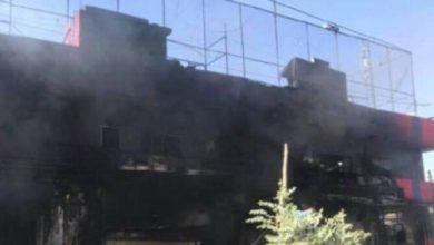 """Photo of Shitiska milisen Al Hashad al Shabi """"folk fronten"""" bränner ner kurdiska affärer i Tuz Khurmatu"""
