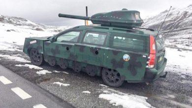 Photo of تعرف على الفولفو السويدي v 70 التي تم تحويلها الى مدرعة مع فوه دبابة