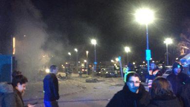 Photo of انفجار قوي قرب محل عربي في مدينة ابسالة