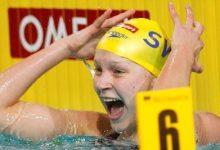 Photo of السباحة السويدية سارة خوستروم تحصل على المدالية الذهبية الثانية في بطولة أوربا