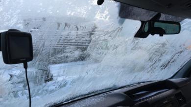 Photo of سحب إجازة سوق بسبب عدم أزالة الثلج من على زجاج السيارة