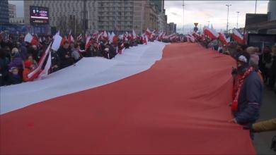 "Photo of ""نصلي من أجل المحرقة الاسلامية"" متطرفوا بولندا"