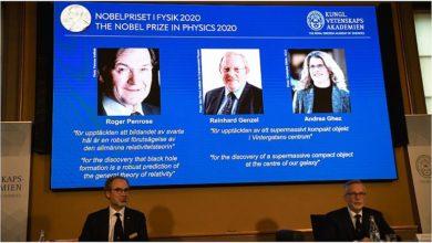 """Photo of نوبل الفيزياء لثلاثة خبراء في مجال """"الثقوب السوداء"""""""