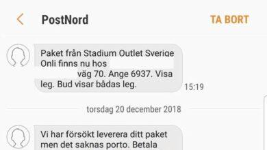 Photo of الشرطة السويدية تحذر من رسائل مزيفة من قبل postnord