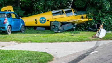 Photo of تحطم طائرة رياضية آثر هبوطها بشكل اضطراري في جنوب السويد