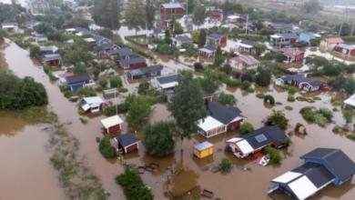Photo of هطول أمطار شديدة على مدينة يافل السويدية قدرت بضعف معدل أمطار الشهر عشية وضحاها